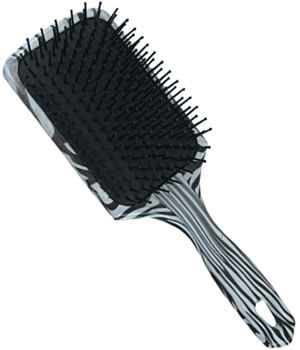 Orlando Professional Zebra Paddle Brush