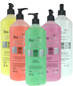 Truzone 1-litre Salon Shampoos with Natural Extracts
