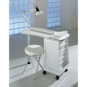 Professional Nail Station with fitted extraction filter