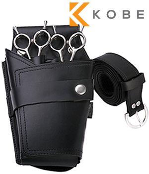 Kobe Nero Leather Scissor Pouch