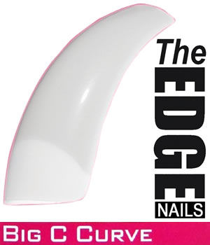 The EDGE Nails Big C Curve Nail Tips - All Sizes