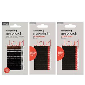 Salon System Marvel-Lash Silky J-Curl Lash Extensions