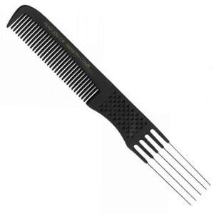 Head Jog C8 Carbon Metal Prong Comb (210 mm)