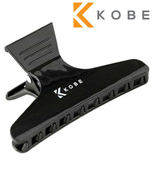 Kobe Black Butterfly Clips (x12)