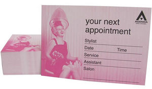 Agenda Retro Pink Hair Salon Appointment Cards