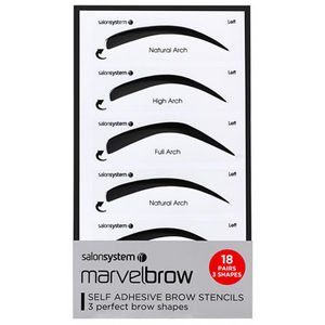 Salon System Marvelbrow Self Adhesive Brow Stencils