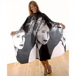 Hair Tools Black & White Portrait Gown
