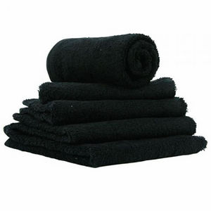 Hair Tools Black Bleach-Proof Towels (x12)