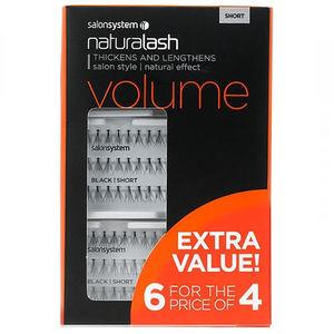 Salon System Naturalash Short Individual Lashes 6 For 4