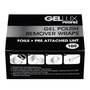 Salon System Gellux Profile Gel Polish Remover Wraps