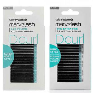 Salon System Marvelash D Curl Assorted Black