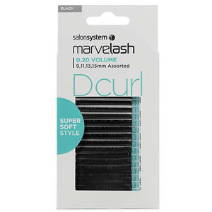 Salon System Marvel-Lash D Curl 0.20 Volume Assorted Black