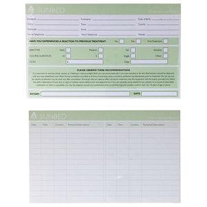 Agenda Sunbed Record Cards (x100)