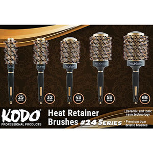Kodo #24 Rose Gold Heat Retainer Brush