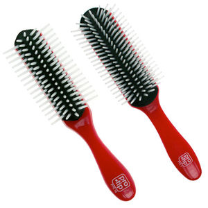 Pro-Tip Black Cushion White Pin Styling Brush