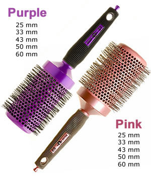Head Jog Ceramic Ionic Radial Brushes (Pink or Purple)