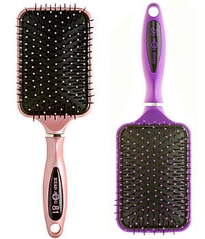 Head Jog Ceramic Ionic Paddle Brush (Pink or Purple)