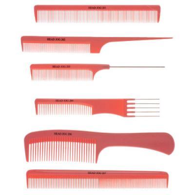 Head Jog Set of 6 Pink Combs