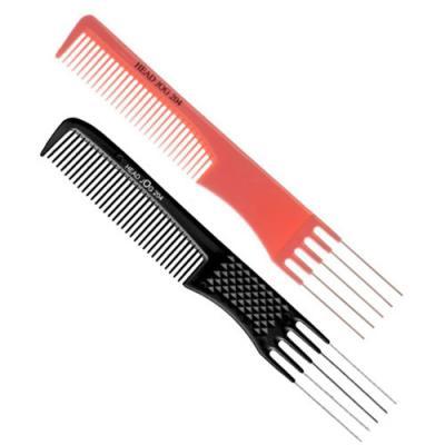 Head Jog 204 Metal Prong Comb (Black or Pink)