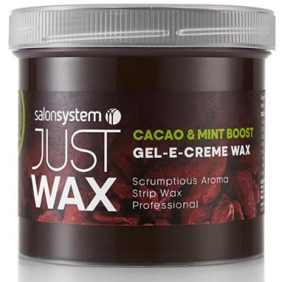 Salon System Just Wax Gel-E-Creme Wax: Cacao & Mint Boost