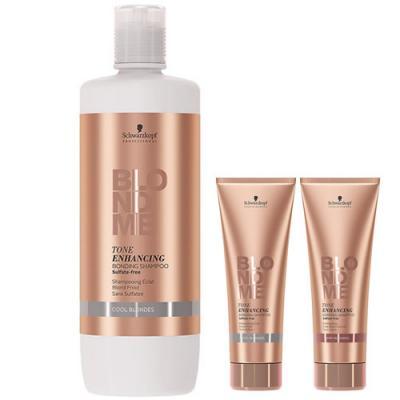 Schwarzkopf Professional BLONDME Tone Enhancing Bonding Shampoo