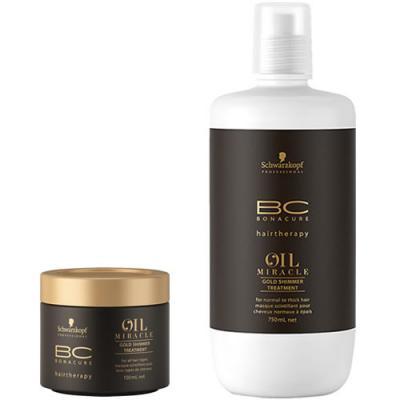 Schwarzkopf BC Oil Miracle Argan Oil Gold Shimmer Treatment
