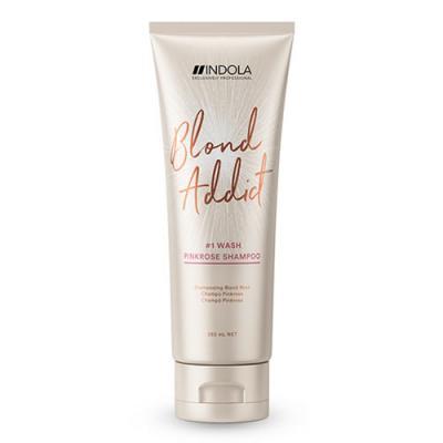 Indola Blond Addict Pink Rose Shampoo