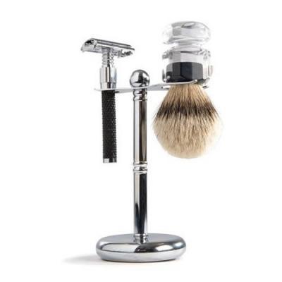 Barburys Stainless Steel Shaving Brush and Razor Stand