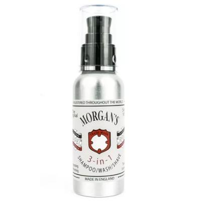 Morgan's 3-in-1 Shampoo, Wash and Shave