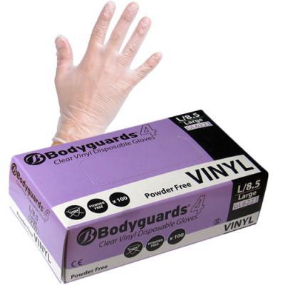 Bodyguards Disposable Powder-Free Vinyl Gloves (x100)