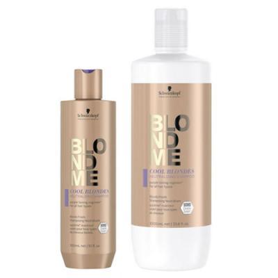 Schwarzkopf Professional BLONDME Cool Blondes Neutralizing Shampoo