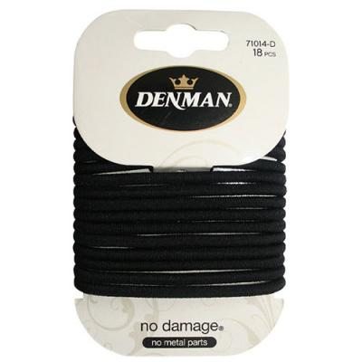 Denman No Damage Black Elastic Bands