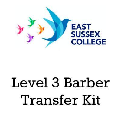 East Sussex College Level 3 Barber Transfer Kit